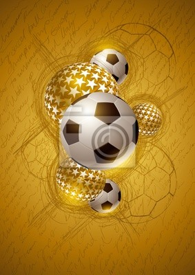 Gold Soccer-abstrakter Entwurf