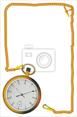 Gold Watch und Kette