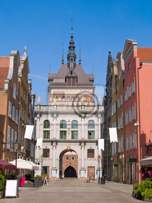Fototapete golden gate, Danzig, Polen