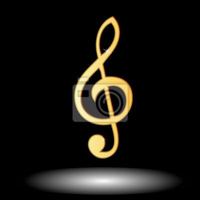 Golden music note Taste