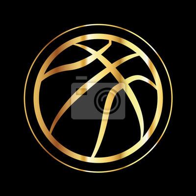 Goldene Basketball-Symbol