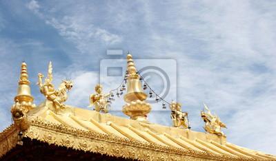 Goldene Dachdekorationen