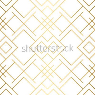 Fototapete Goldene Textur Nahtloses geometrisches Muster. Goldener Hintergrund Vektor nahtlose Muster Geometrischer Hintergrund mit Raute und Knoten. Abstraktes geometrisches Muster.