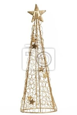Weihnachtsbaum Metall.Fototapete Goldener Weihnachtsbaum Metall