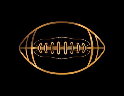 Goldfarbiger American Football Icon Illustration