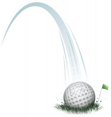 Fototapete golf ball action