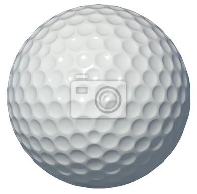 Fototapete Golf ball isolated on white background 3d rendering