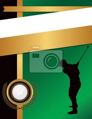 Golf Flyer Hintergrund Vorlage Illustration