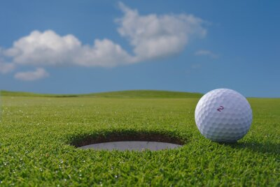 Fototapete golf hole and ball