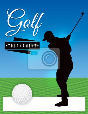 Golf-Turnier-Flieger-Schablone Illustration