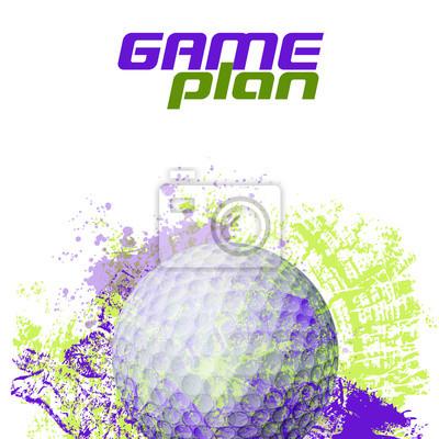 Golfball Alle Elemente sind in separaten Ebenen und gruppierte.