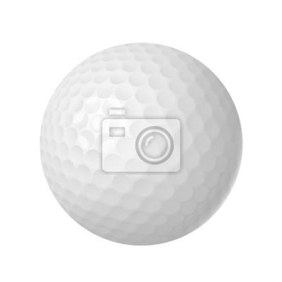 Golfball auf weißem