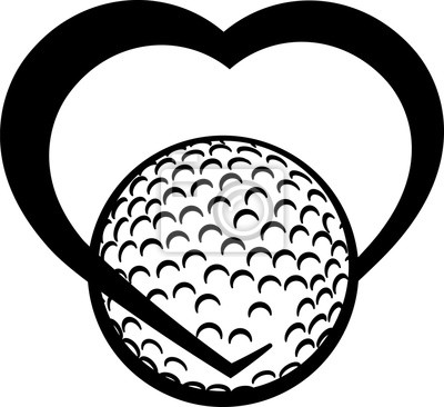 Golfball Herz