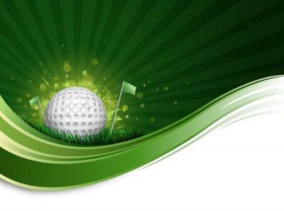 Fototapete Golfball Welle