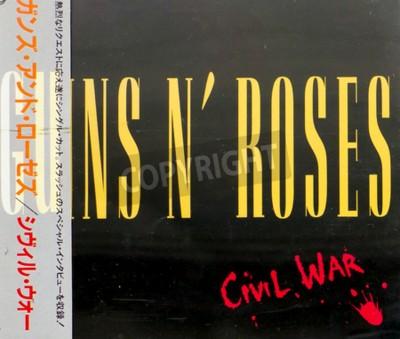 Fototapete GOMEL, BELARUS - AUGUST 18, 2015: CD GUNS N ROSES Civil War (1993), Guns N Roses ist eine amerikanische Hard-Rock-Band aus Los Angeles, die 1985 gegründet wurde.