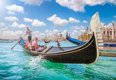 Fototapete Gondel auf Canal Grande in Venedig, Italien
