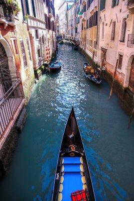 Fototapete Gondel auf Kanal in Venedig, Italien