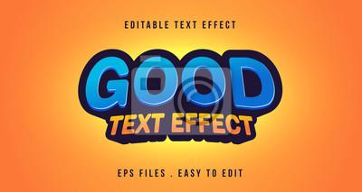 Fototapete Good 3D text effect, editbale text