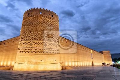 Fototapete Gorgeous evening view of the Karim Khan Citadel, Shiraz, Iran
