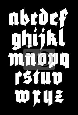 Gothic Alphabet Schriftart. Vektor