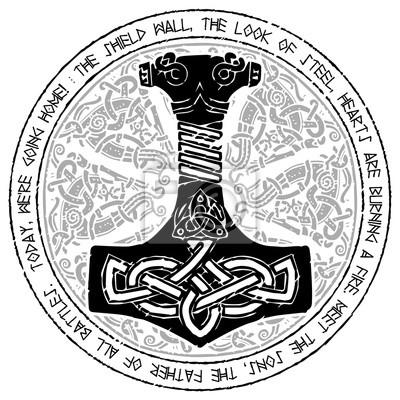 Gott thor hammer mjollnir runde traditionelle for Tapeten bei hammer