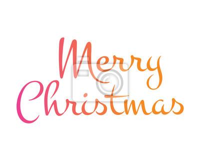 Gradient isoliert hand schreiben wort frohe weihnachten fototapete ...