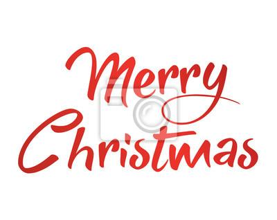 Gradient rot isoliert handschrift wort frohe weihnachten fototapete ...