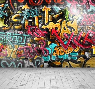 Fototapete Graffiti an der Wand
