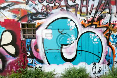 Graffiti bleu