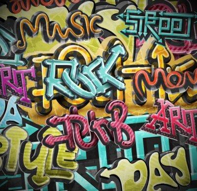 Fototapete Graffiti Grunge-Hintergrund