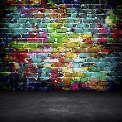Fototapete Graffiti-Mauer
