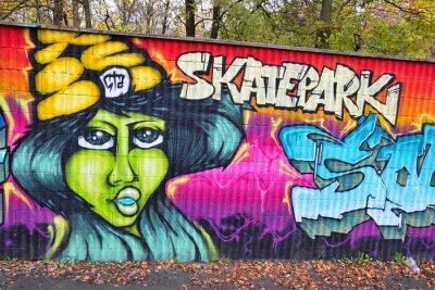 Fototapete Graffiti Mauer Kunst in Deutschland