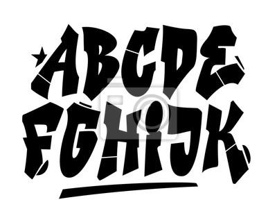 Graffiti style font. Vector alphabet (part 1)