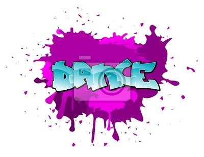 Graffiti Tanz Hintergrund