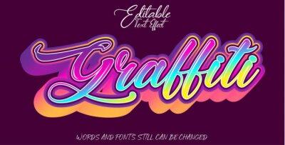 Fototapete Graffiti text effect style