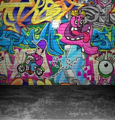 Fototapete Graffiti Wand städtischen Straße, Kunst, Malerei