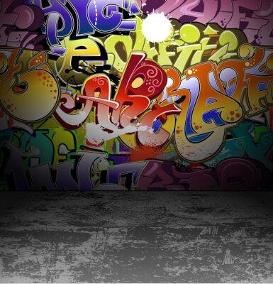 Fototapete Graffiti Wand städtischen Straße Kunstmalerei