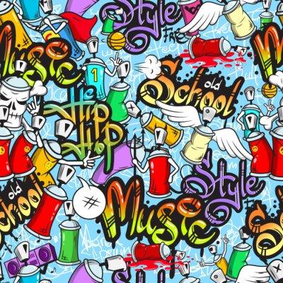Graffiti-Zeichen nahtlose Muster