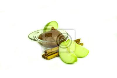 Granny Smith Äpfel, Karamell und Zimt würzen