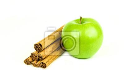 Granny Smith Apfel und Zimt würzen