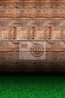 Gras und Holz.