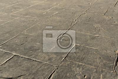 Grau Gestanzte Beton Schiefer Nahtlose Textur Muster Pflaster