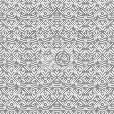 Fototapete Grau Und Weiß Stern Fliesen Muster Wiederholung Hintergrund