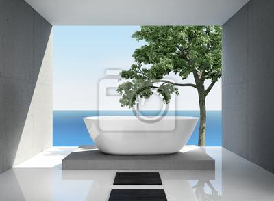 Grau weiß, modern eleganten luxus badezimmer interieur ...