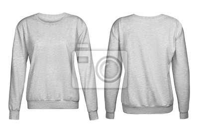 premium selection 44856 4fca7 Fototapete: Grauer pullover, mockup, weißer hintergrund