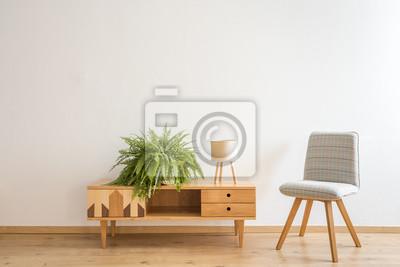 Grauer Stuhl Neben Dem Schrank Fototapete Fototapeten Appartment