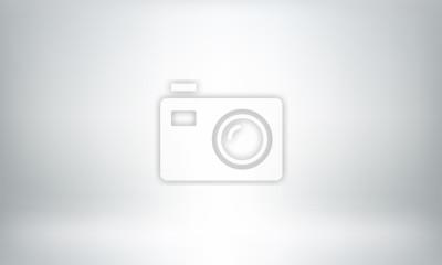 Fototapete Gray studio background or backdrop 3D room lightbox