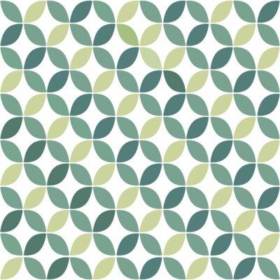 Fototapete Green Geometric Retro Seamless Pattern