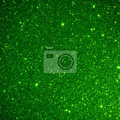 Fototapete Green glitter background texture abstract light design nature merry christmas and happy new year holiday card celebration sparkle yellow light blur bright art backdrop clean with space blank