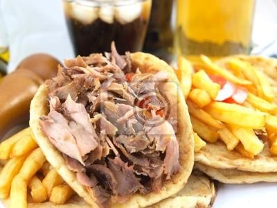 Griechische Gyros oder kebab
